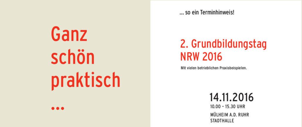 Grundbildungstag NRW 2016